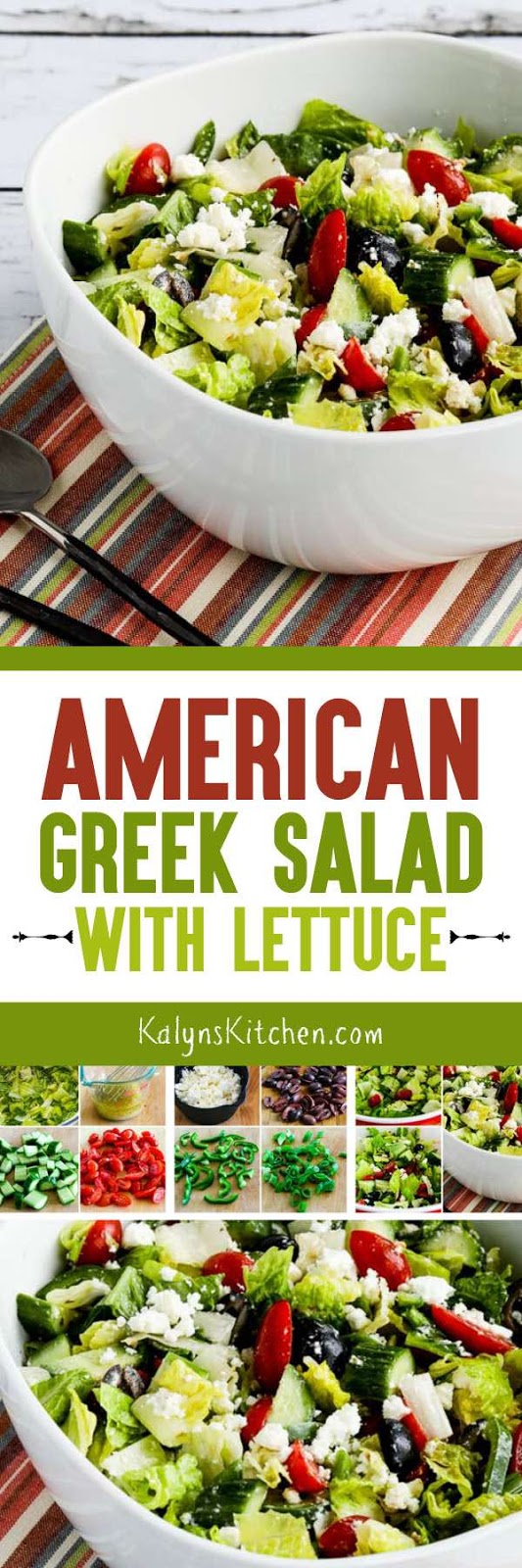 American greek salad with lettuce kalyns kitchen another option is entering the recipe into this recipe nutrition analyzer which will calculate it for you forumfinder Images
