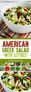 American Greek Salad (with Lettuce) found on KalynsKitchen.com