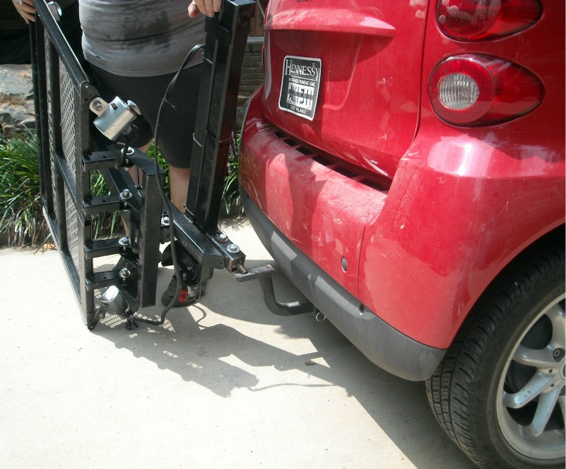 Hubs Installed A Trailer Hitch On The Car But Had To Modify Bolt So It Would Fit Of Course Is Smaller Than Truck Have