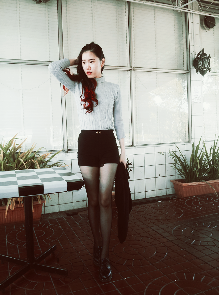 turtleneck shorts dresslink dr martens fall