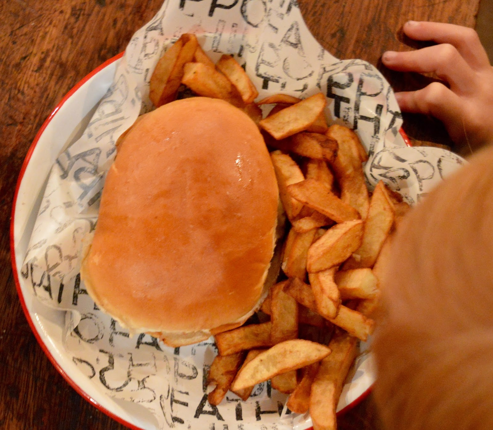 The Fat Hippo Underground with Kids | Simply the Best Burgers in Newcastle -children's bacon cheese burger meal