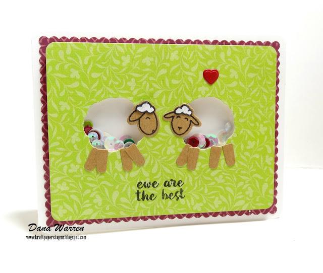 Dana Warren - Kraft Paper Stamps - Poppy Stamps