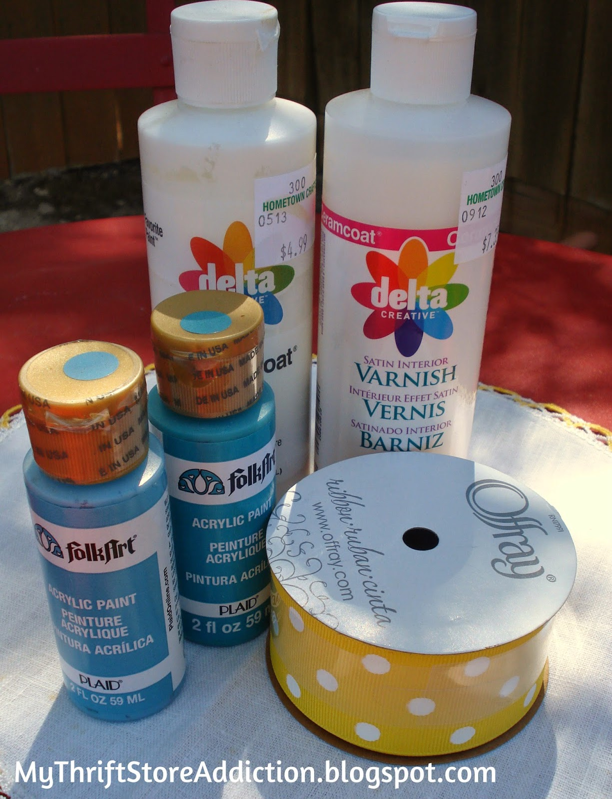 Yard sale craft supplies