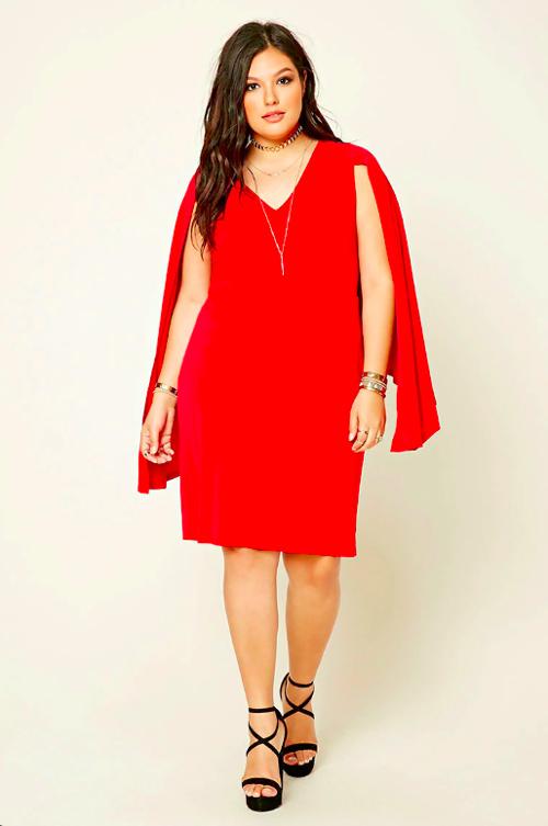 Vestidos rojos de noche para gorditas