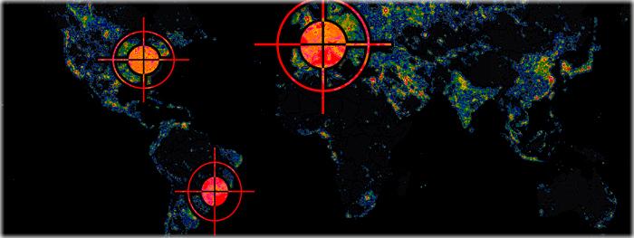 mapa da poluição luminosa