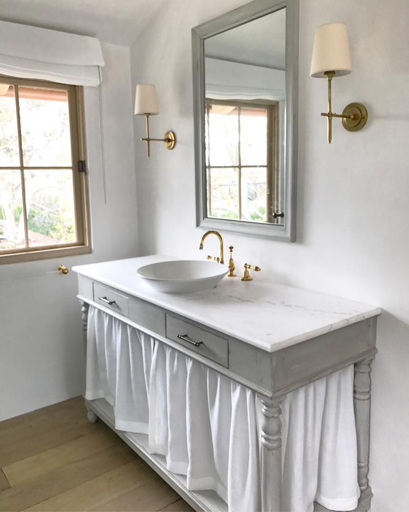 image result for draper's table master bathroom Malibu Mediterranean Modern Farmhouse Giannetti Home
