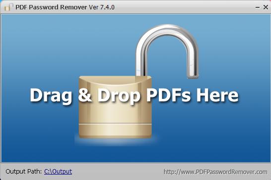 [Soft] PDF Password Remover 7.4.0 + Portable - Gỡ mật khẩu file PDF