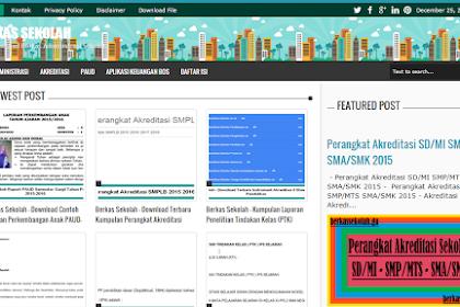 Kumpulan Berkas Sekolah Lengkap Penunjang Kegiatan Belajar Mengajar dan Perangkat Administrasi Sekolah
