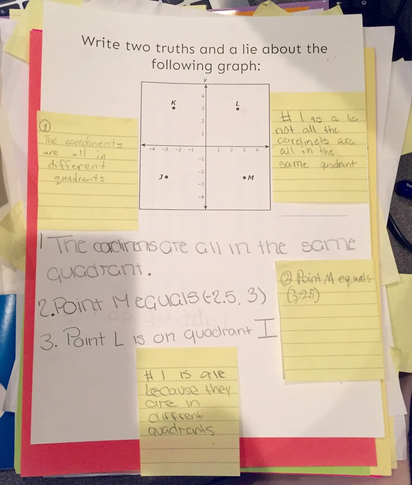 Teaching In An Organized Mess Two Truths And A Lie Writing In Math Class