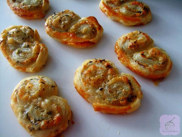Palmeras de queso y tomillo