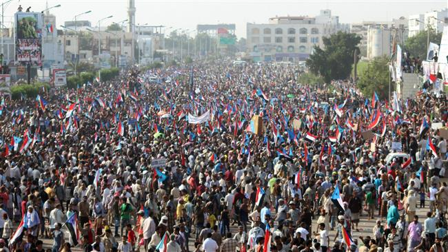 Thousands of Yemenis rally in Aden to support secession