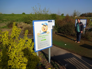 Peter Jones on Pete's Practice Putting Area at Clays Golf Centre