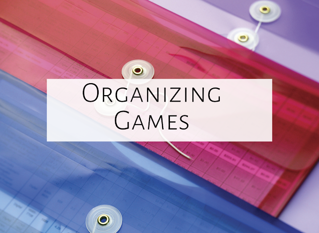 Organizing your games and activities
