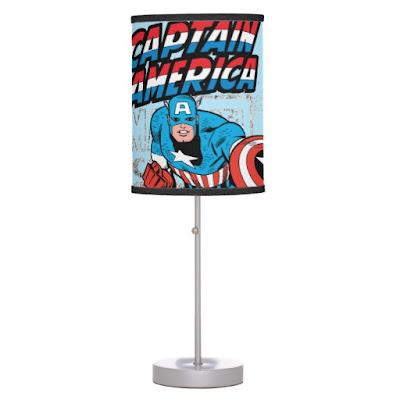 Captain America Retro Table Lamp