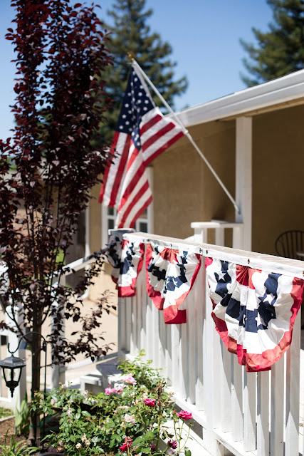 Flag Bunting on Porch