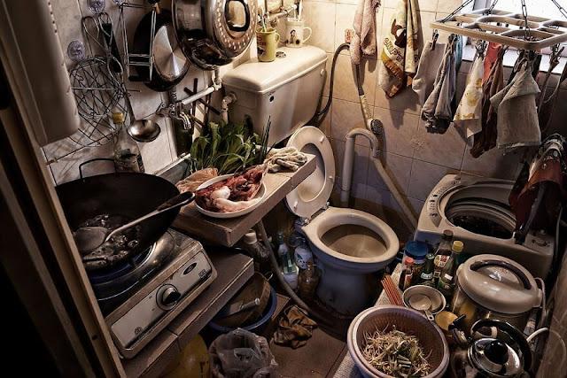 toilet bercampur dengan tempat masak