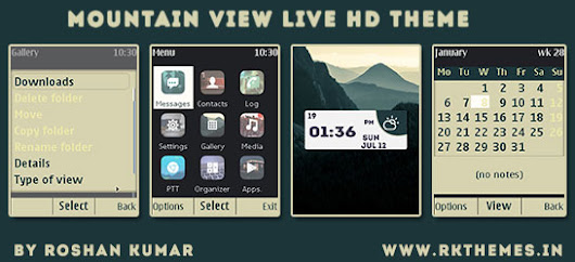 Mountain View Live HD Theme For Nokia X2-00, X2-02, X2-05, X3-00, C2-01, 206, 208, 301, 2700 & 240×320 Devices ~ Rkthemes | Download Free Themes For  Nokia and Android Phones