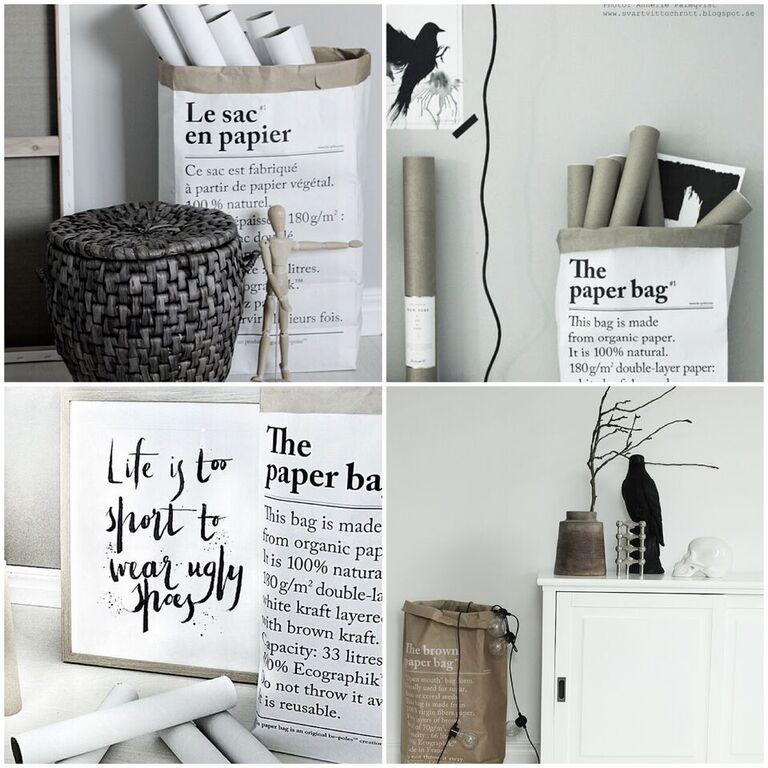 erbjudande, rabatt, blogg, inredning, annelies design, le sac en papier, papperspåsar, påse, påsar, förvaringspåsar, paris, påse med text, webbutik, webbutiker, webshop, nettbutikk, nettbutikker,