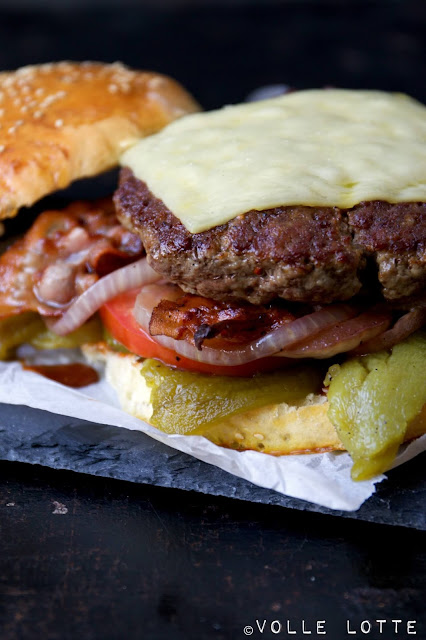 grillen, Burger, Hamburger, Portugal, Pimentos, Paprika, Backofen, einfach, backen, Feier