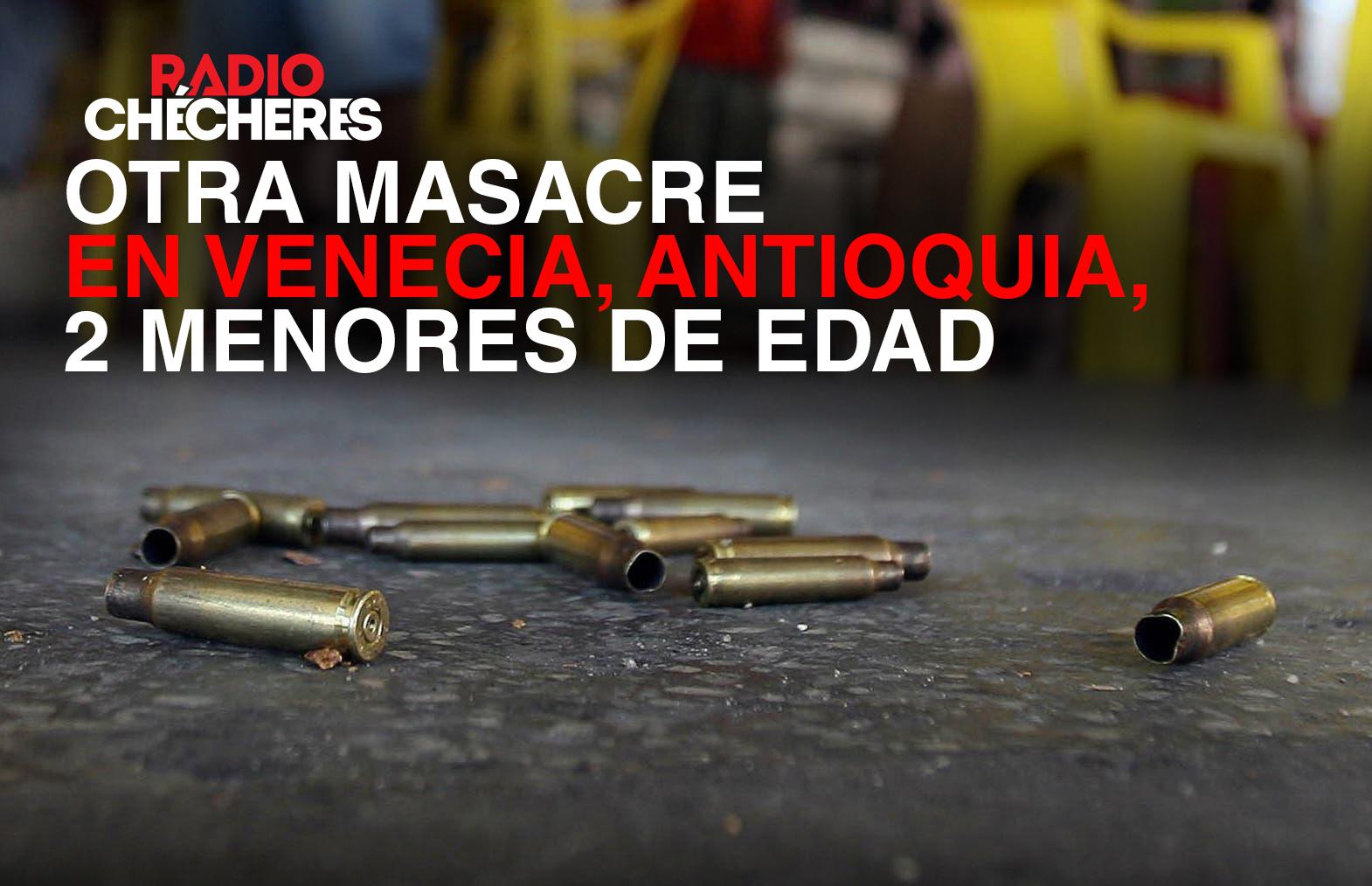 Masacre en Venecia, Antioquia, entre los asesinados reportan al menos 2 menores de edad