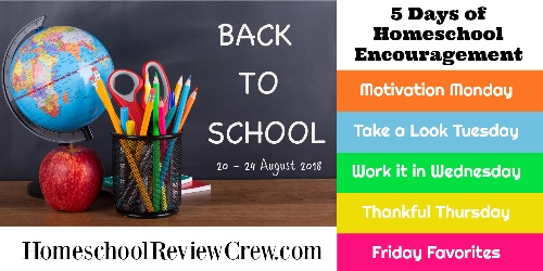 http://schoolhousereviewcrew.com/take-a-look-tuesday-5-days-of-homeschool-encouragement/