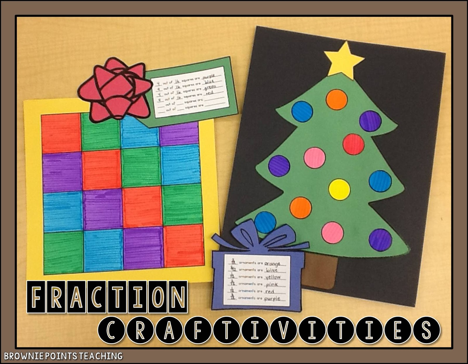 Christmas Fractions Craftivities
