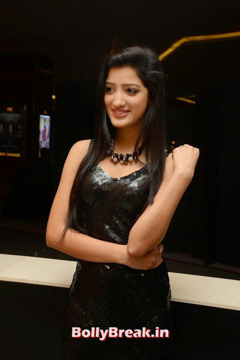 Richa Panai Photos, Richa Panai Hot Hd Pics in Shiny Black Short Dress