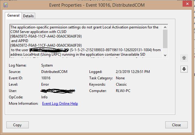 How to Fix Event ID 10016, DistributedCOM Windows