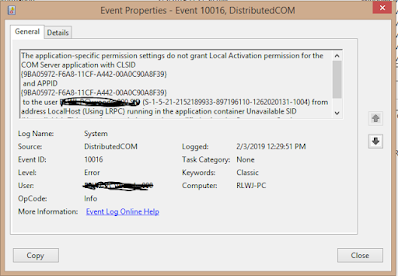 Picture of Windows Event Viewer