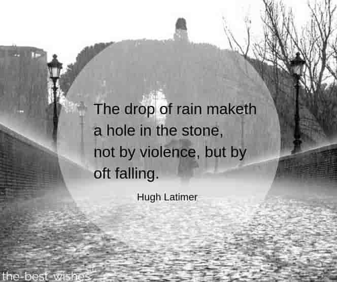 rainy day quotes with images by hugh latimer