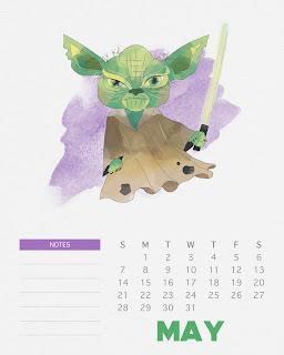 Calendario 2017 de Star Wars para Imprimir Gratis  Mayo.