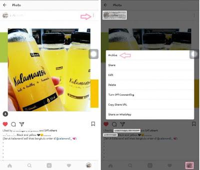 Cara Sembunyikan Foto atau Video di Instagram