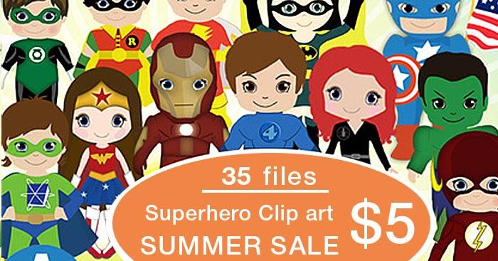 Free Printable Invitation: All Superheroes Vector Clipart ...