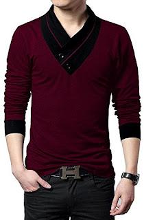 buy seven rocks mens v neck cotton t shirt