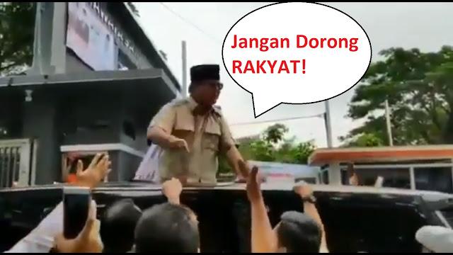 Difitnah Bentak Warga, Ternyata Prabowo Tegur Pengawalnya: Jangan Dorong-dorong Rakyat!