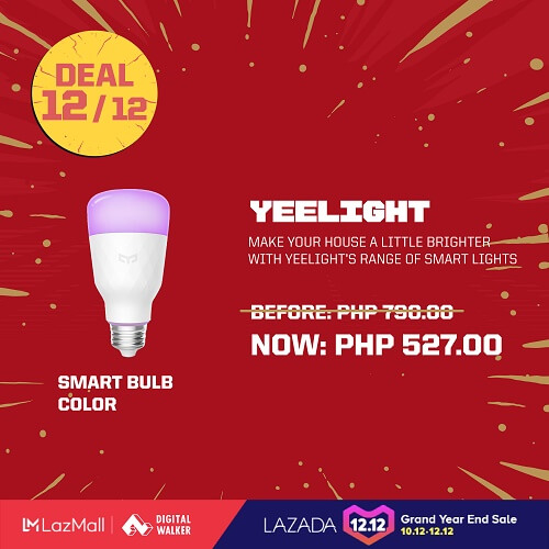 YeeLight Smart Bulb Color Light at Php527
