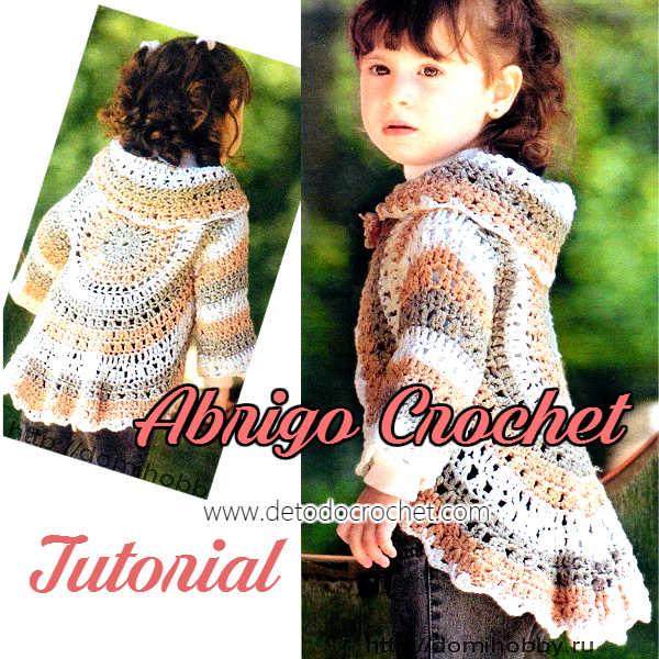 abrigo fácil crochet para nenas con video tutorial