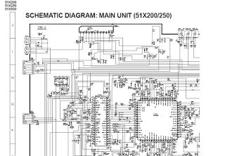 Skema TV SHARP schematic main board 51X200, 51X250,51X500 (GA-2)
