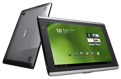 Acer Iconia Tab A701 Specifications - LAUNCH Announced 2012, January DISPLAY Type LCD capacitive touchscreen, 16M colors Size 10.1 inches (~65.1% screen-to-body ratio) Resolution 1920 x 1200 pixels (~224 ppi pixel density) Multitouch Yes BODY Dimensions 259.8 x 175 x 10.9 mm (10.23 x 6.89 x 0.43 in) Weight 667 g (1.47 lb) SIM Mini-SIM PLATFORM OS Android OS, v4.0 (Ice Cream Sandwich) CPU Quad-core 1.3 GHz Cortex-A9 Chipset Nvidia Tegra 3 GPU ULP GeForce MEMORY Card slot microSD, up to 32 GB (dedicated slot) Internal 16/32/64 GB, 1 GB RAM CAMERA Primary 5 MP, autofocus, LED flash Secondary Yes Features Geo-tagging Video 720p NETWORK Technology GSM / HSPA 2G bands GSM 850 / 900 / 1800 / 1900 3G bands HSDPA 900 / 2100 Speed HSPA 21.1/5.76 Mbps GPRS Class 10 EDGE Class 10 COMMS WLAN Wi-Fi 802.11 a/b/g/n, dual-band, hotspot, DLNA GPS Yes, with A-GPS USB microUSB v2.0, USB v2.0 Radio No Bluetooth v2.1, A2DP, EDR FEATURES Sensors Accelerometer, gyro, compass Messaging SMS(threaded view), MMS, Email, Push Email, IM Browser HTML5, Adobe Flash Java No SOUND Alert types Vibration; MP3, WAV ringtones Loudspeaker Yes, with stereo speakers 3.5mm jack Yes  .- Dolby Mobile 3 BATTERY  Non-removable Li-Po 9800 mAh battery (36 Wh) Stand-by  Talk time Up to 12 h (multimedia) Music play  MISC Colors Titanium Gray  - HDMI port - MP3/WAV/WMA/eAAC+ player - XviD/MP4/H.264 player - Organizer - Document viewer - Predictive text input