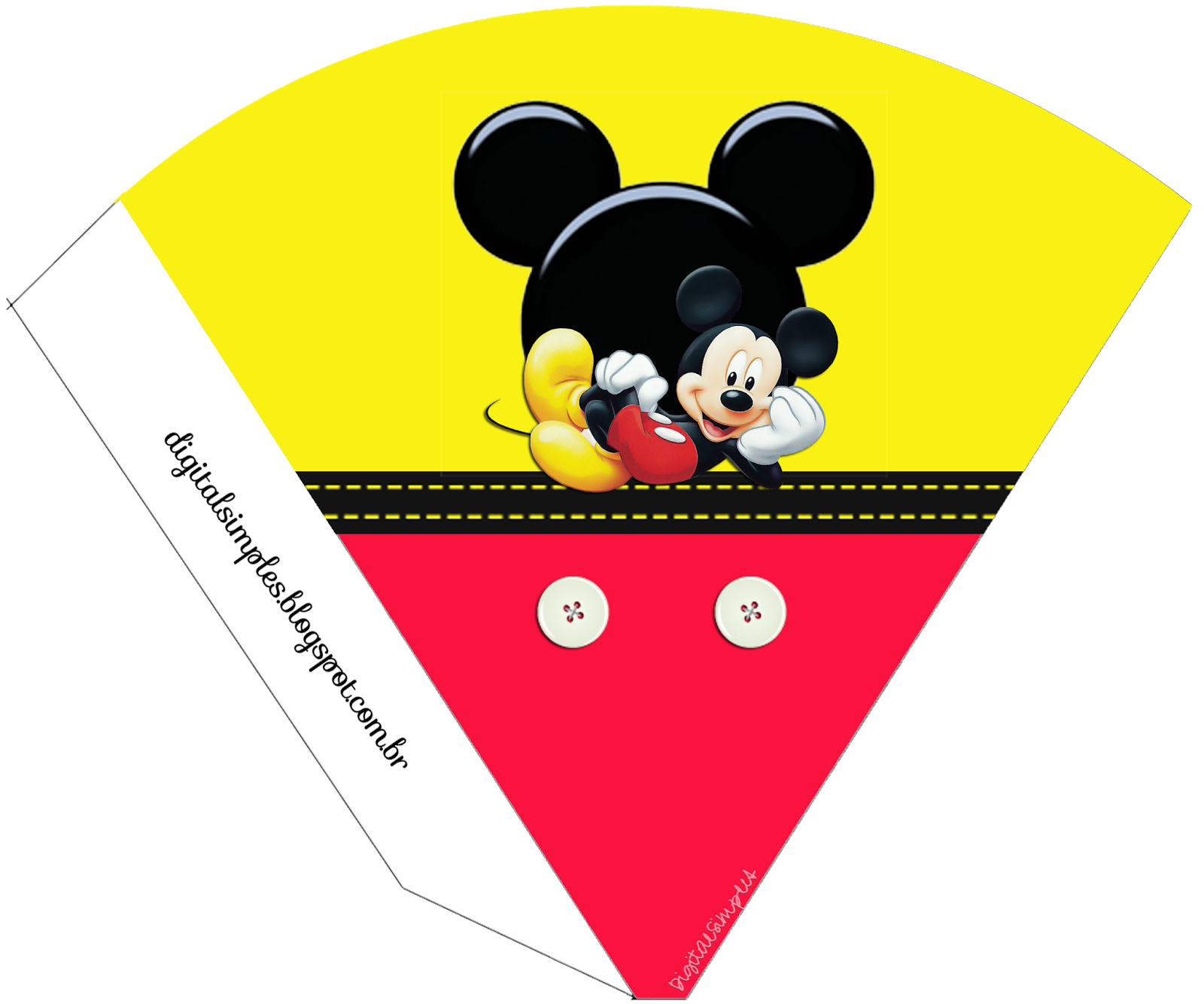 Mickey: Free Printable Cones..