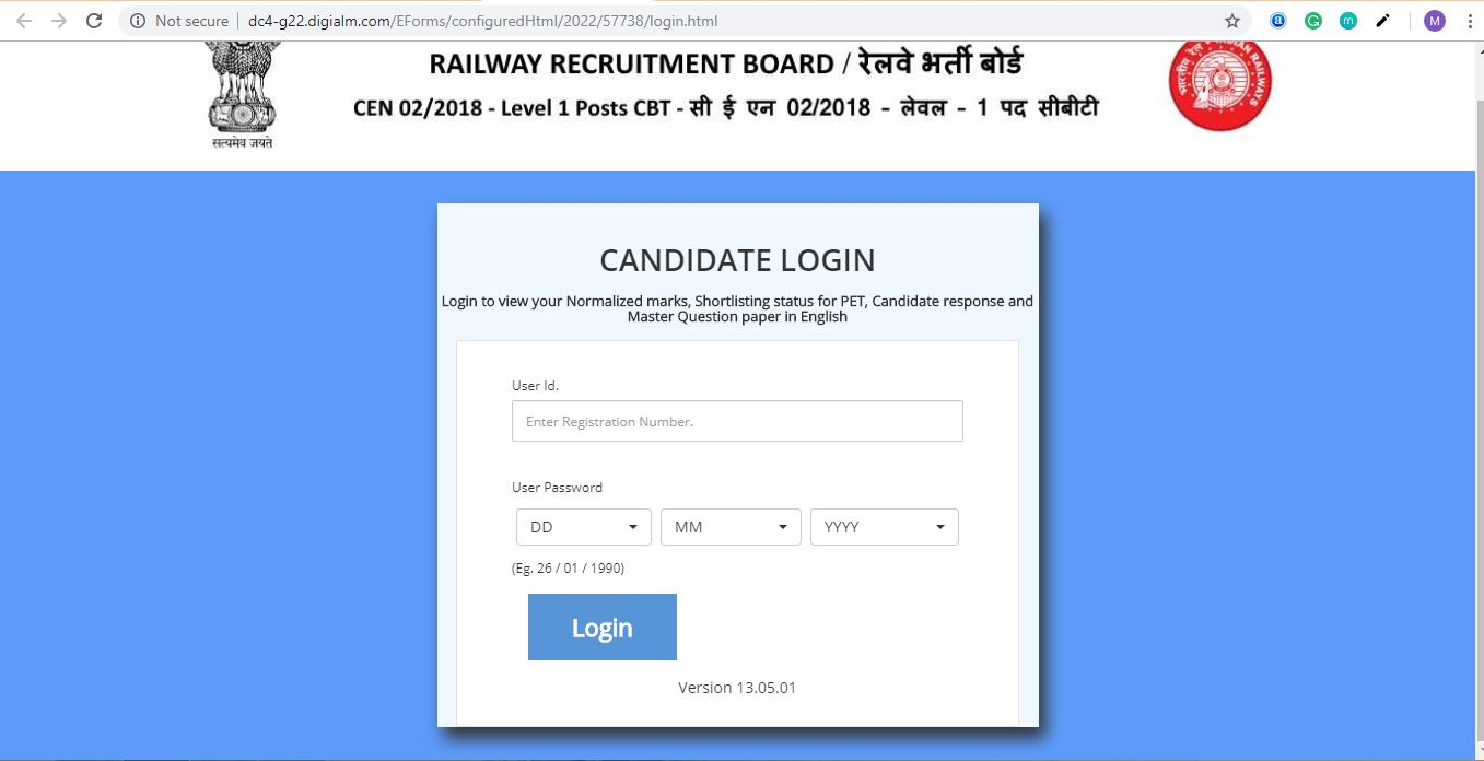 RRB GROUP D Exam Question Paper, Response Sheet , Final Answer Key , Score Card