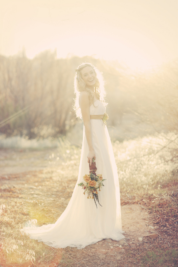 bride+groom+bridal+dress+gown+floral+hair+wreath+rustic+woodland+ecofriendly+eco+friendly+green+emerald+color+of+the+year+pantone+cake+dessert+table+reception+centerpiece+blue+hipster+fall+autumn+gideon+photography+8 - Woodland Fairytale