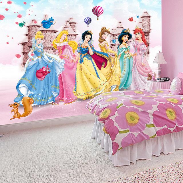 Picture Wallpaper for Walls Kids Girl Disney Princess Wall Mural