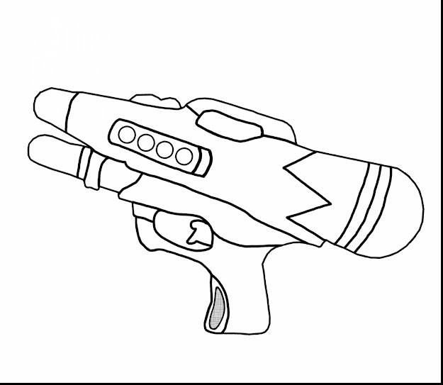 Excellent Water Gun Coloring Pages With Coloring Pages And Coloring  Pages For Adults