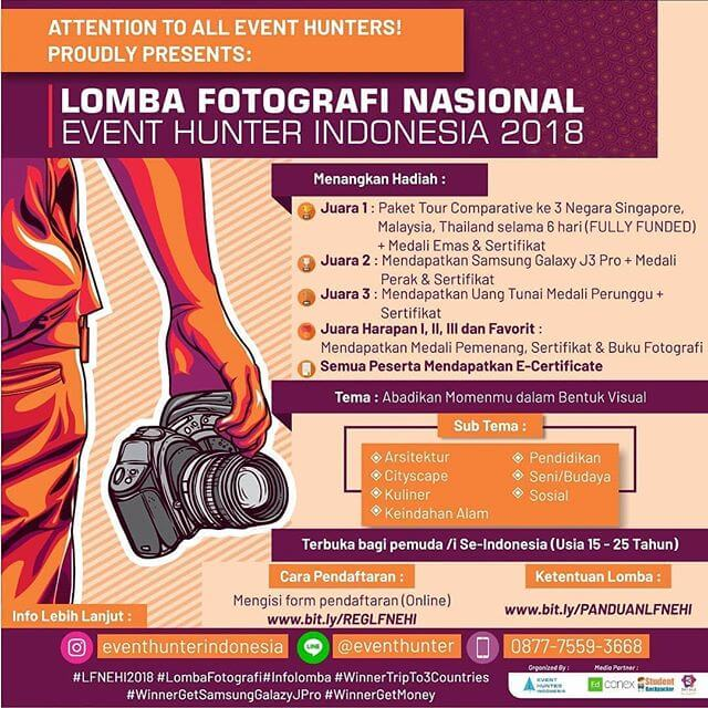 Lomba Fotografi With Event Hunter Indonesia 2018