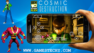 ben 10 ultimate alien cosmic destruction highly compressed iso ppsspp