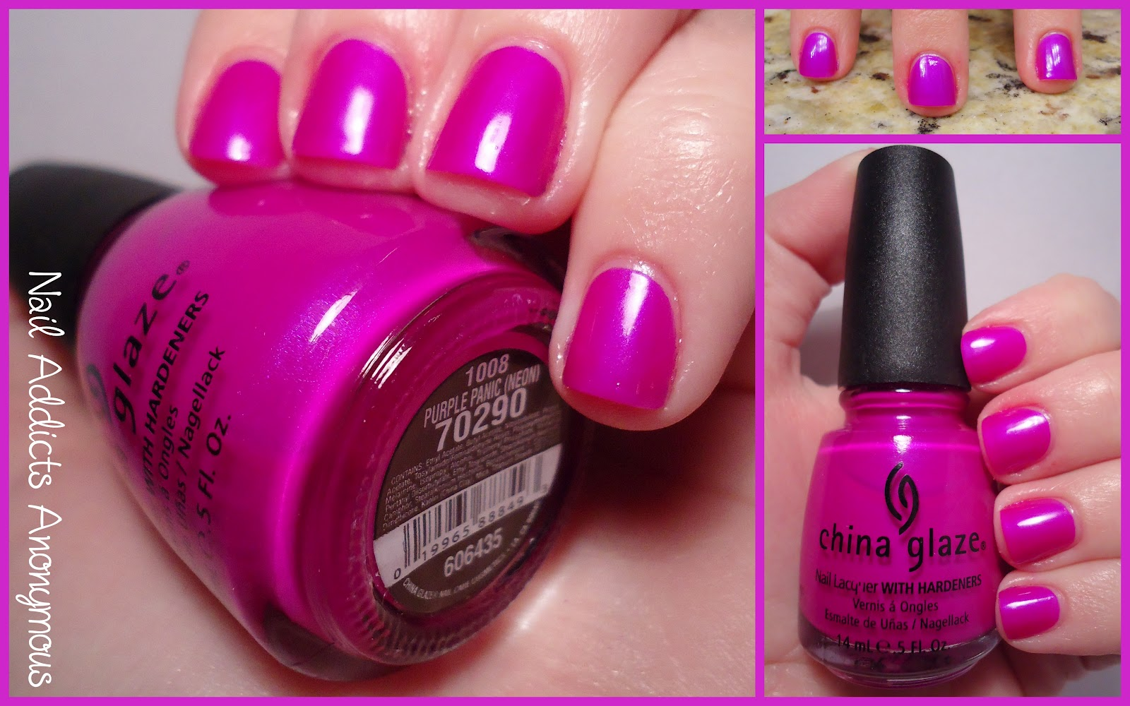 China Glaze Nail Polish Purple Panic Best Nail Designs 2018