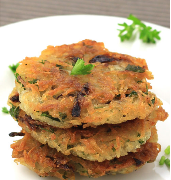 Potato Cheema (Potato Pancake) Recipe Just Make 10 Minutes