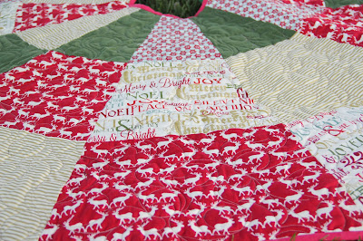 Christmas in July tree skirt, made using a free tutorial