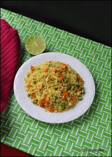 Couscous Masala Upma